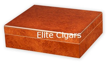 Humidor, Burlwood with humidifier