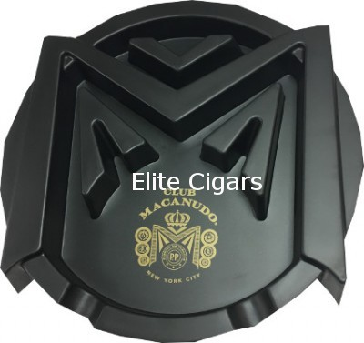 Ashtray, Club Macanudo Big M, Black